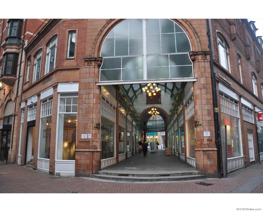 Birmingham's Tilt, at one end of the City Arcade, where Warwick & Union Passages meet.