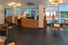 A panoramic view from just inside the (Warwick Passage) door.
