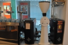 Meanwhile, back at the espresso machine, there are 3 grinders, 2 x espresso & an EK-43.