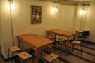 Downstairs, Tilt is still evolving. There are some more tables...