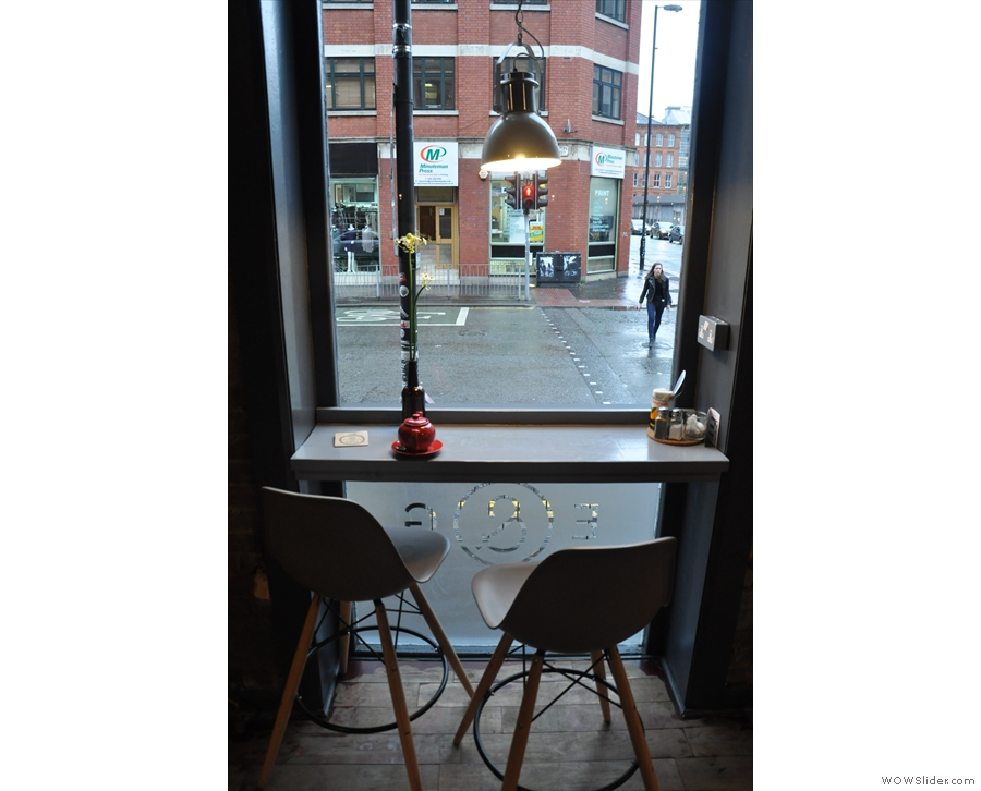 If you're not a fan of tables, never fear. Each of Ezra & Gil's windows has a window-bar.
