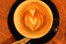 Always a good sign when the latte art lasts to the bottom of the cup!