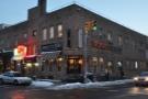 Sweetleaf in Williamsburg, Brooklyn, on the corner of Kent Avenue and N 6th Street.