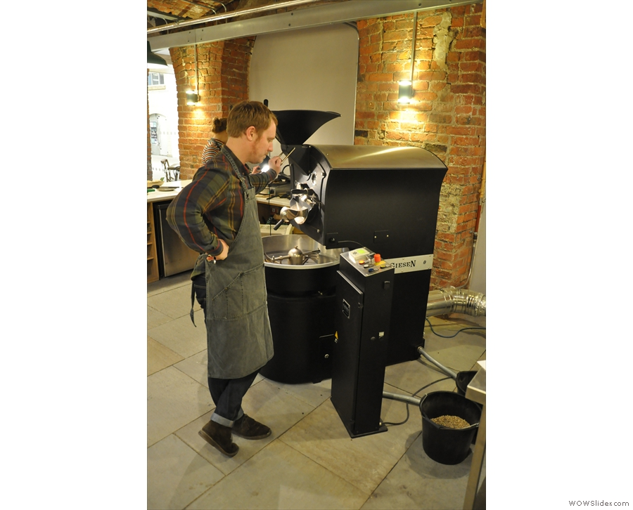 ... a man & his roaster. Or is that a roaster, and his roaster? Confusing langauge, English.
