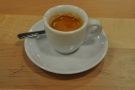 And here's one Linda prepared earlier: my espresso.
