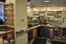 As an island counter, you get great views. The espresso machine, seen from the back-right...