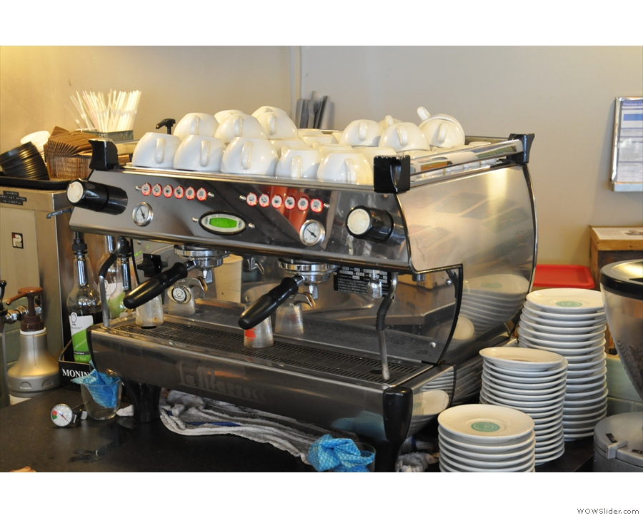 The espresso machine.