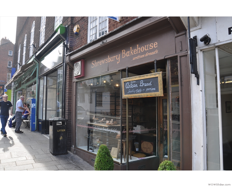 Two doors down is the Shrewsbury Bakehouse, source of many of the Coffeehouse's goodies.