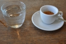 And my espresso, which came with a glass of water, always a good sign.