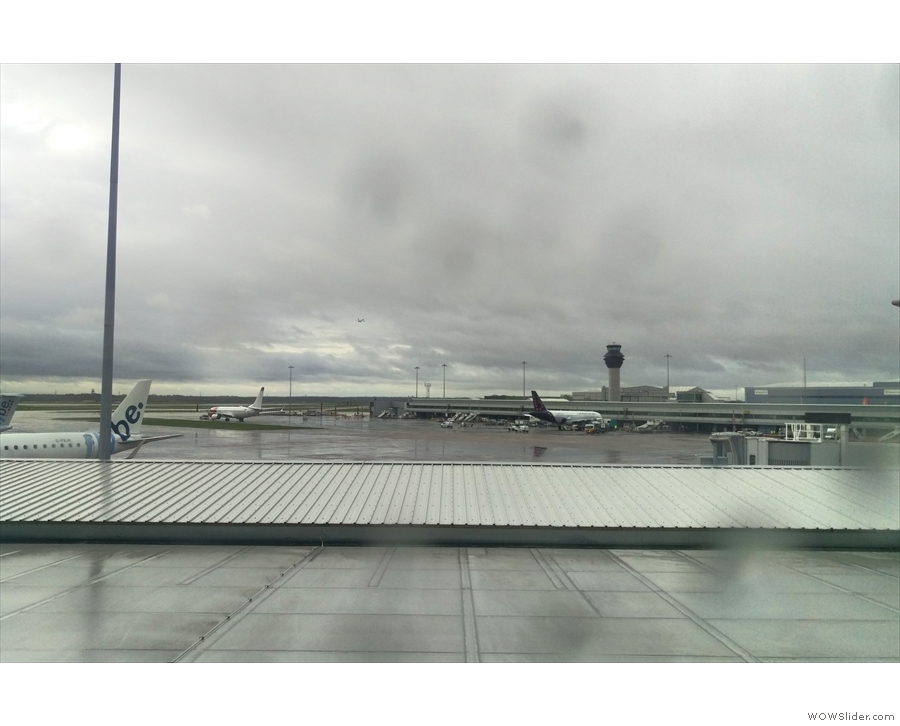 Welcome to Manchester Airport, Terminal 3. Needless to say, it rained. All the time!