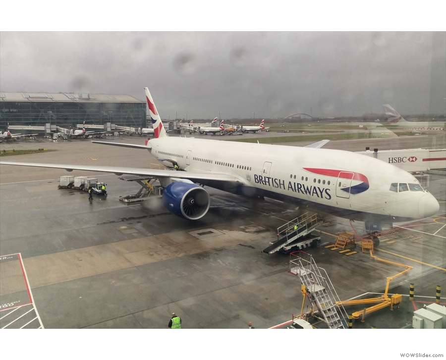 This, my even mightier steed (a Boeing 777), is what's goiong to take me to America.
