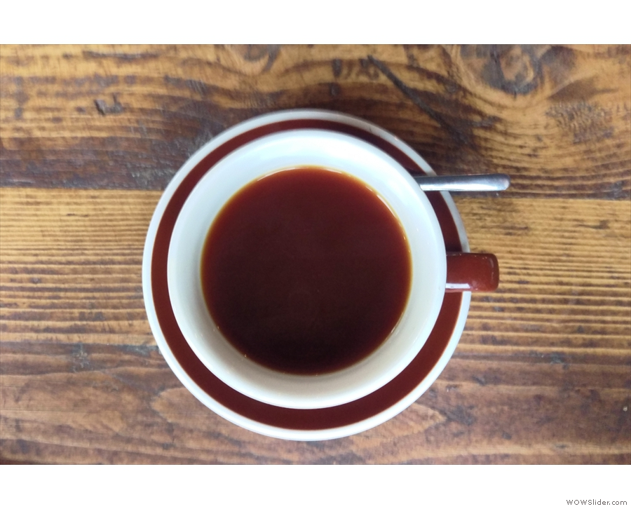 At New Row, I'd had it through the V60; here I tried it through the Aeropress...
