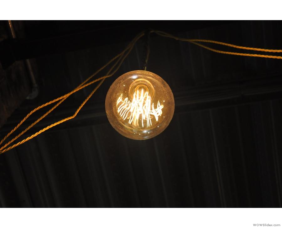 Light bulb, seen from below.