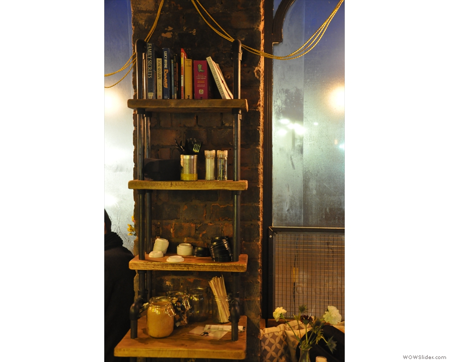 ... of book shelves, condiments and cutlery racks.
