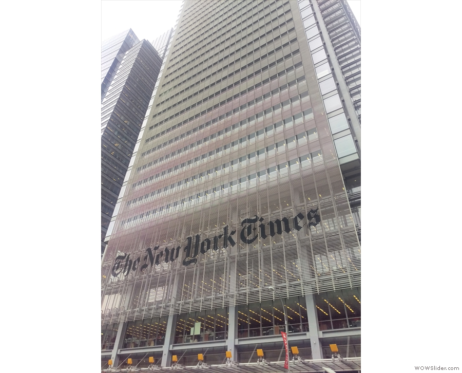 New  York, I have arrived! This is the New York Times Building by the way, on 8th Avenue.