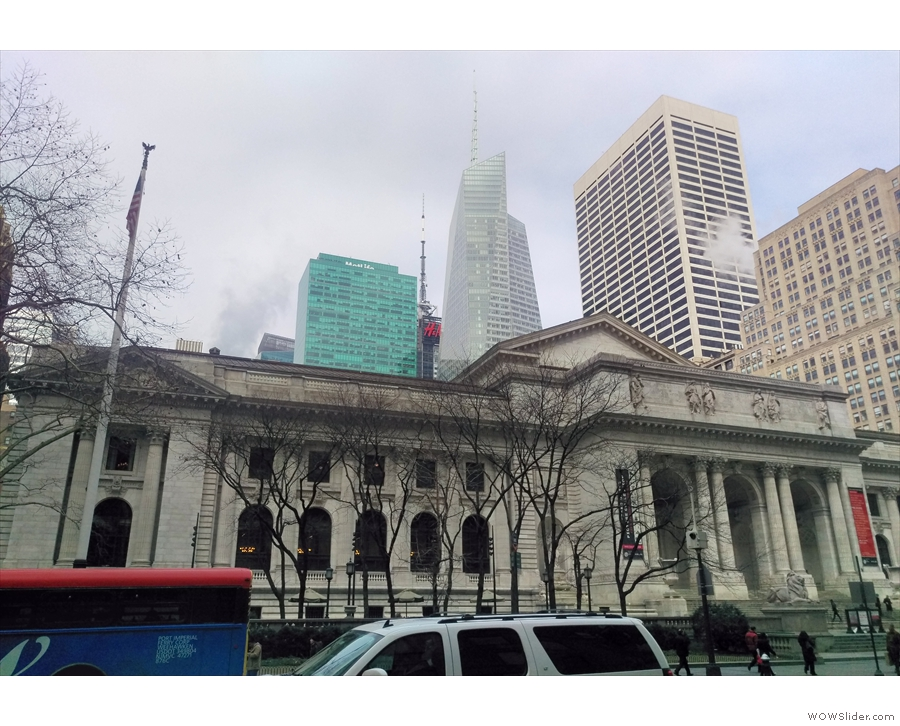 ... and this is New York Central Library, wihich backs onto the park.