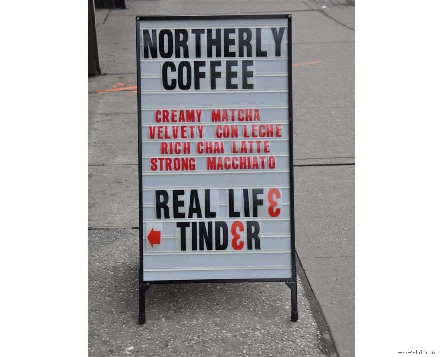 ... but which has since been reborn as Northerly Coffee.