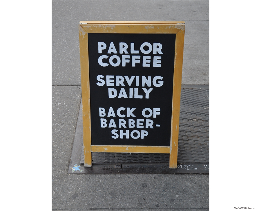 Parlor Coffee... Now that rings a bell...