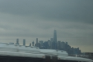 Downtown in close-up, with the new World Trade Center Tower looking very prominent.