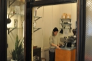 It's a tiny coffee bar at the back of a barbers that my friend Greg wrote about!