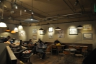 The Shrewsbury Coffeehouse, showing Cherie's work on the wall upstairs.