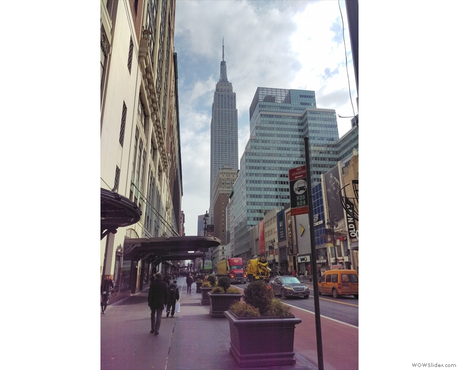 My day was spent wondering around Manhattan. Here's a view of the Empire State Building.