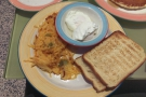I also indulged in my love of diner food: poached eggs, potatoes and toast.