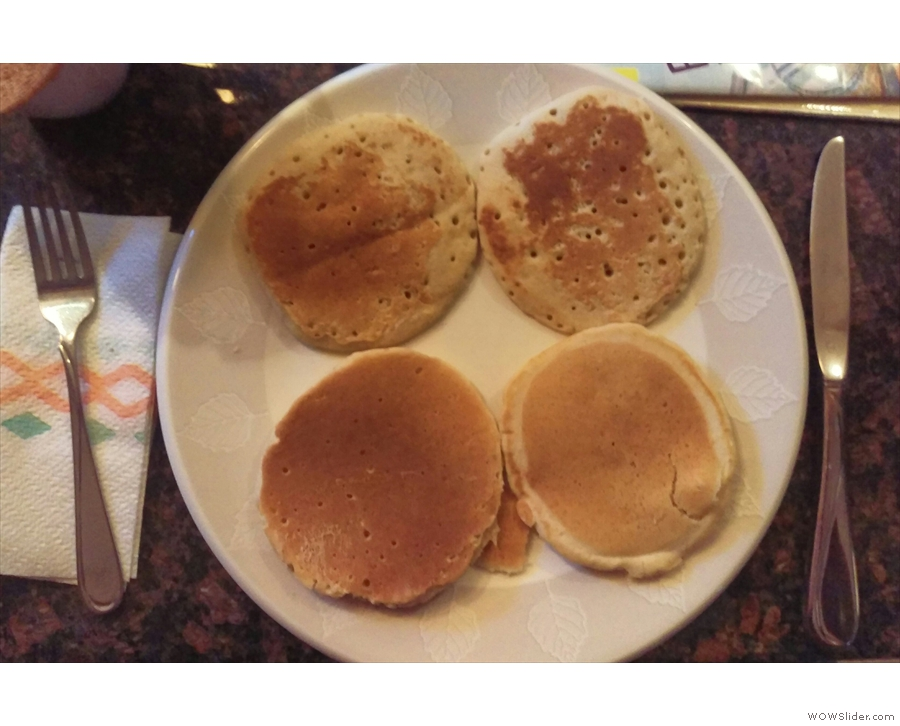 Thursday saw me still making up for Tuesday's pancake debacle with pancakes for breakfast.