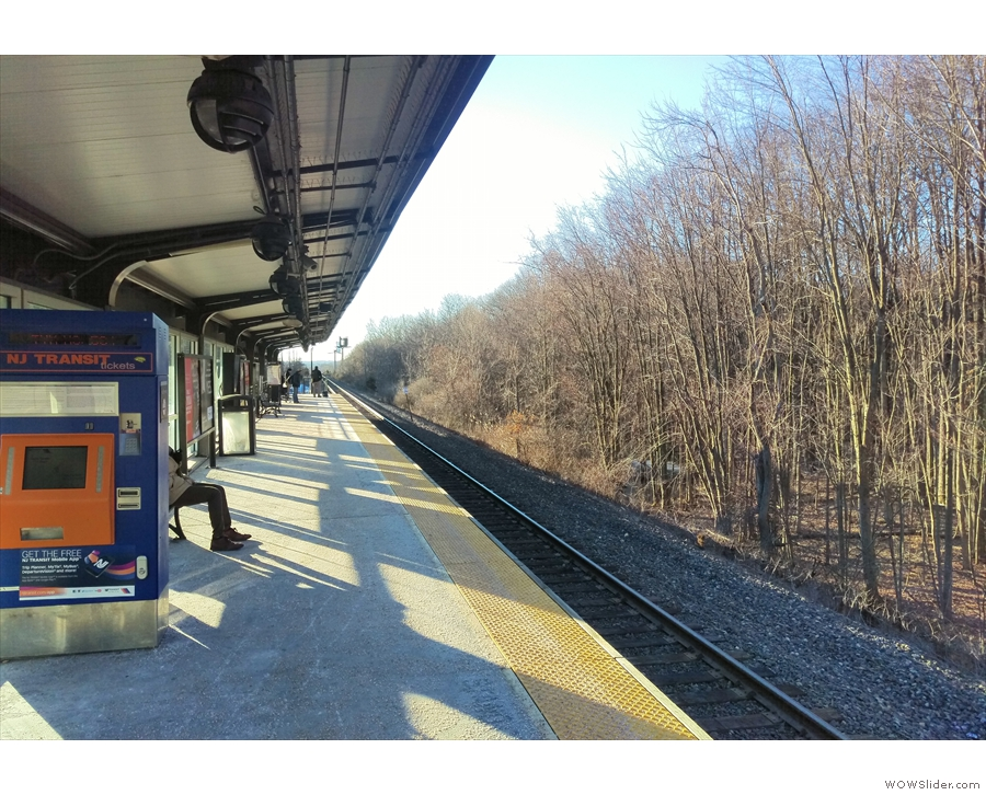 But first, to get there. This is a new one for me: New Jersey's commuter rail system!