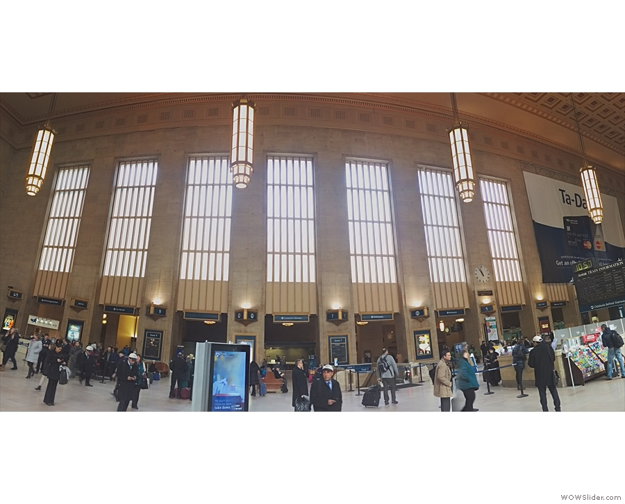 Just over an hour later & we're at Philadelphia's 30th St Station. Not Grand Central size...