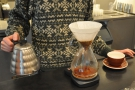 The Chemex starts with a bloom...