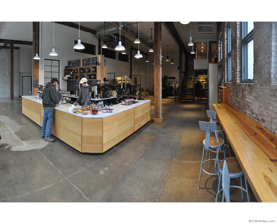In between, there was time to visit ReAnimator's spacious cafe/roastery.