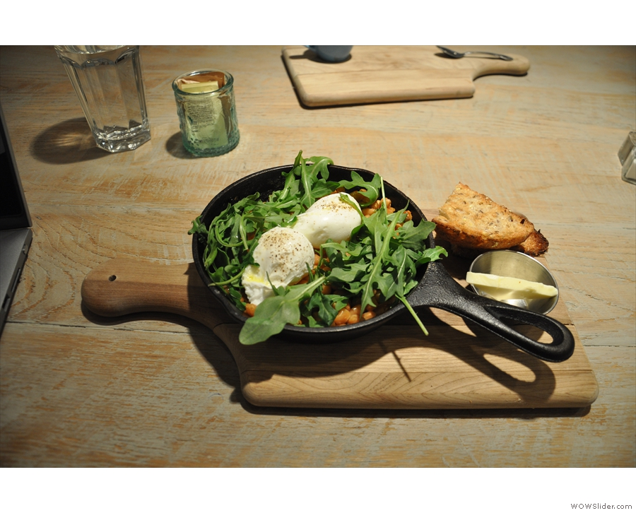 Dinner that evening was at Bluestone Lane on Rittenhouse Square, serving all-day brunch...
