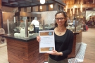 The rest of the afternoon was spent delivering awards certificates, first to La Colombe...