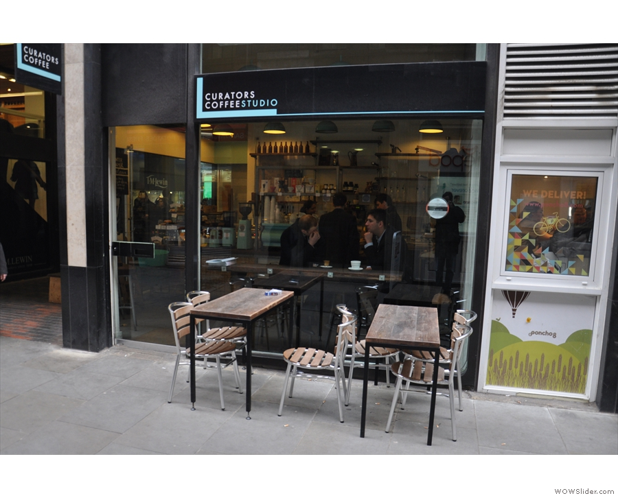 The original Curators, Curators Coffee Studio, on Cullum Street in the heart of the city.