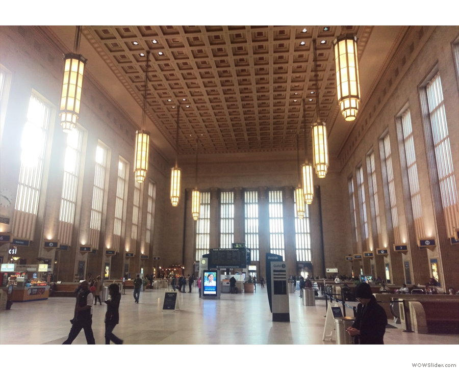 The soaring halls of Philadelphia's 30th Street Station, where I caught my train to Manassas.