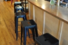 There are also bar stools at the counter...