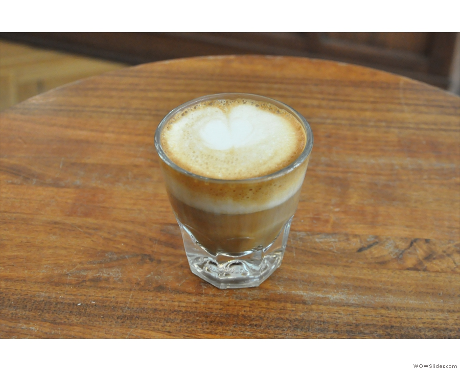 I had a cortado this time around...