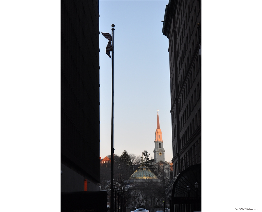 By the time I left, the setting sun was bathing Providence's spires in a lovely light.