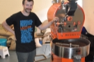 A roaster (Thomas) and his roaster (12kg Diedrich)