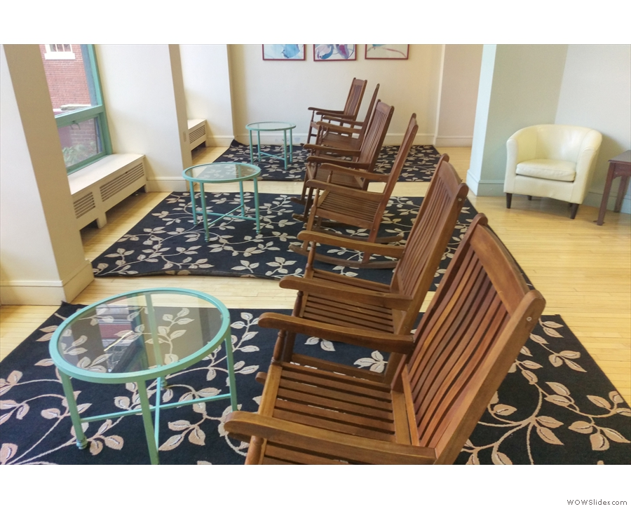 It was a bit cold for sitting out there, so why not try these rocking chairs instead?
