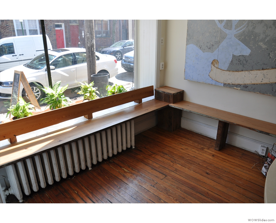 ... and this lovely bench in the window and along part of the left-hand wall.