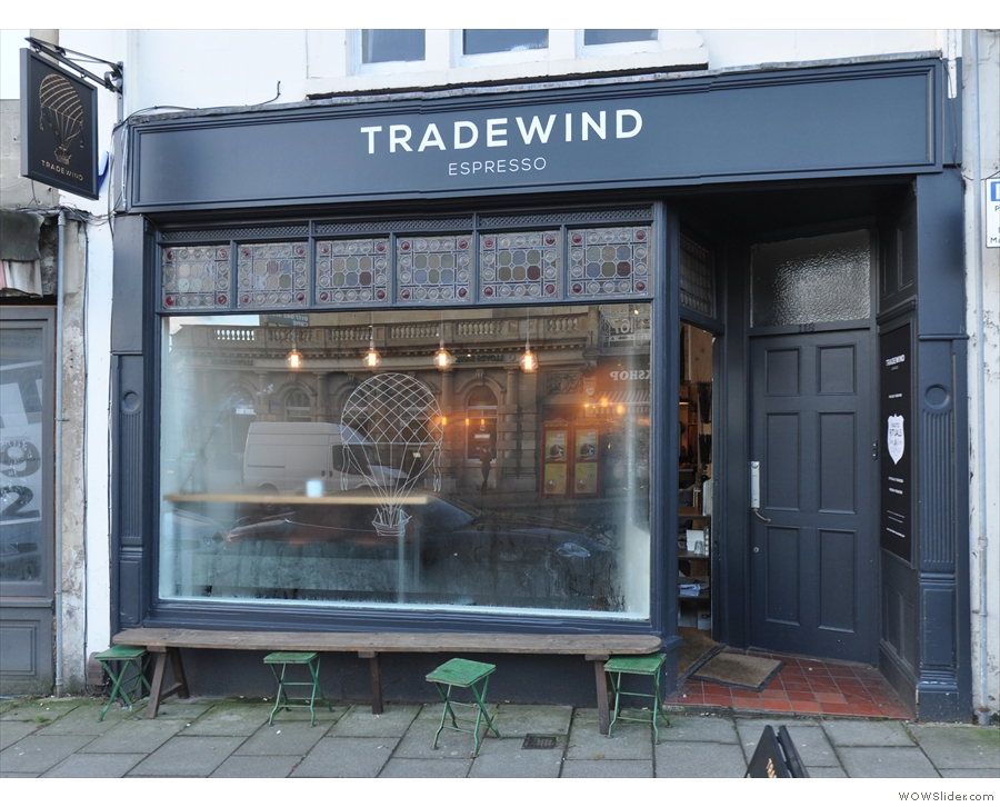 Tradewind Espresso, near the top of Bristol's Whiteladies Road.