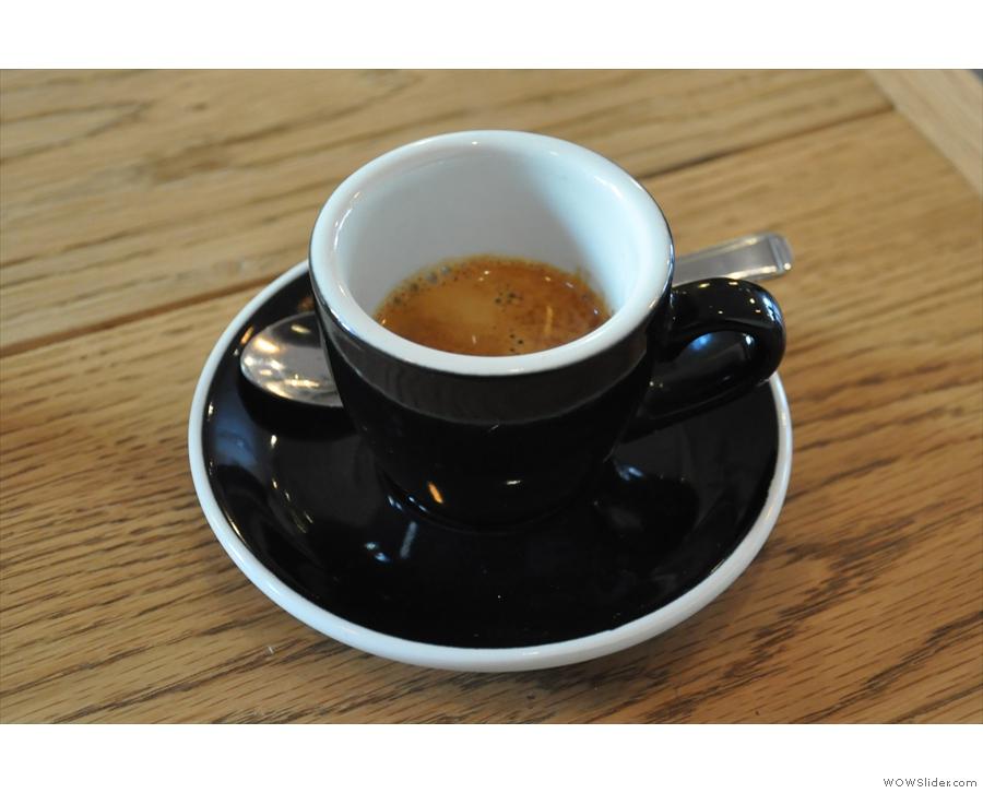 Instead, this is mine, the single-origin espresso, a Guatemala Huehuetenango.