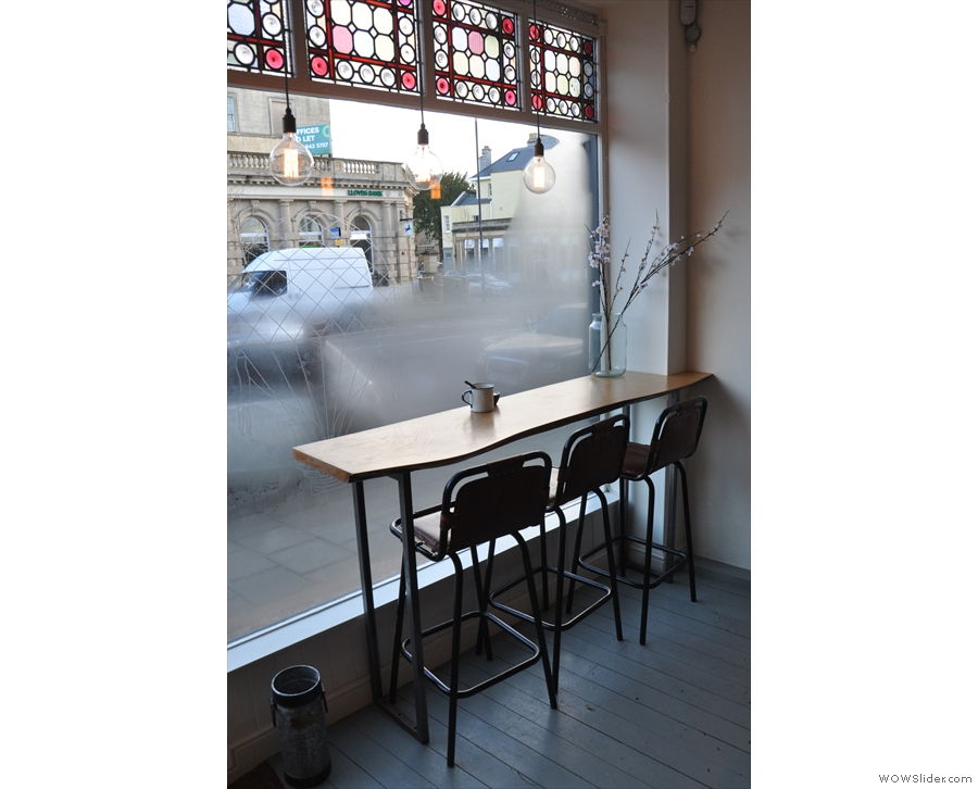 This lovely window-bar is a good place for people-watching.