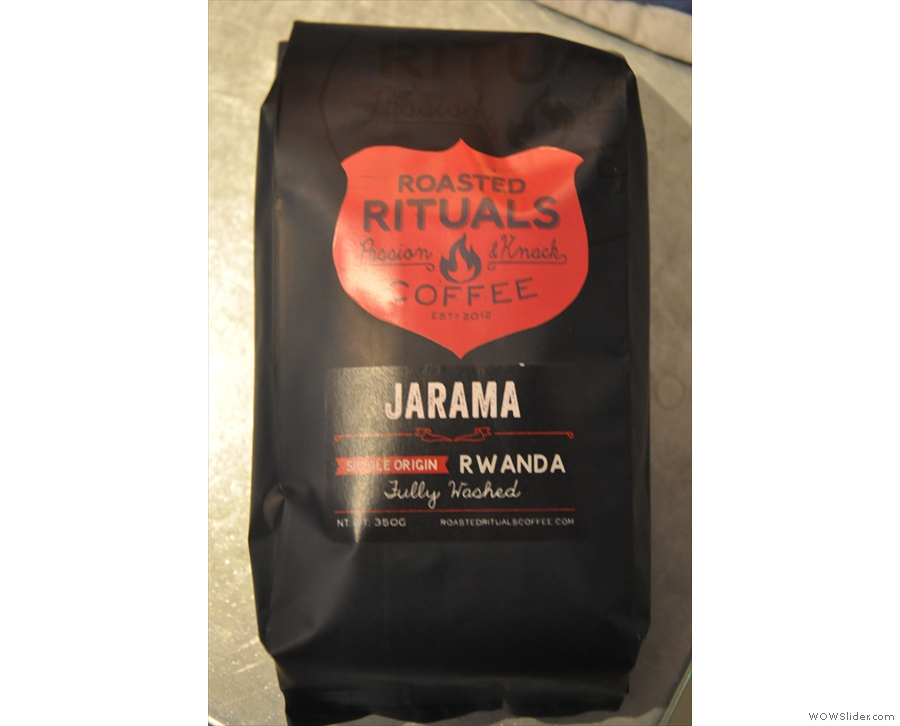 My choice, by the way, a single-origin Rwanda.