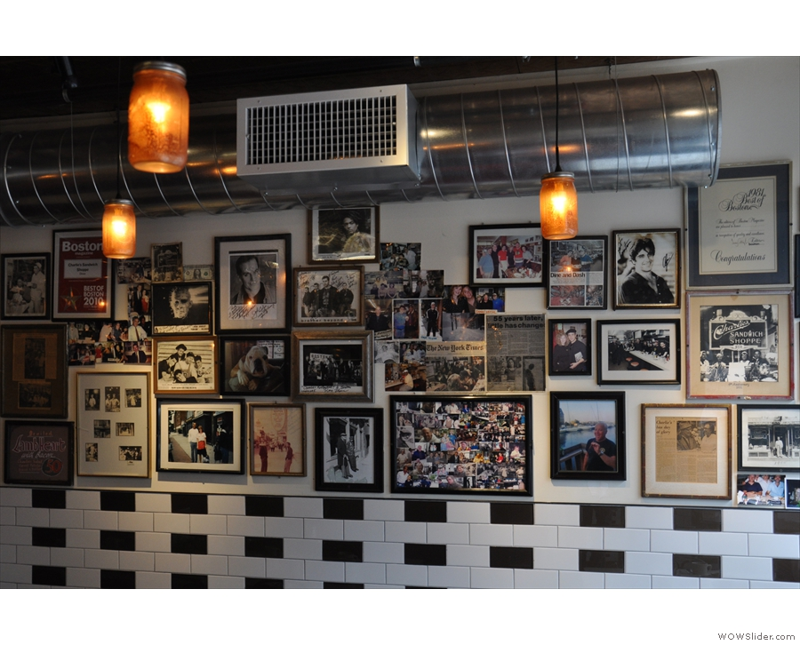 Talking of pictures, while the walls were tiled in the refit, there's still space for lots of photos.