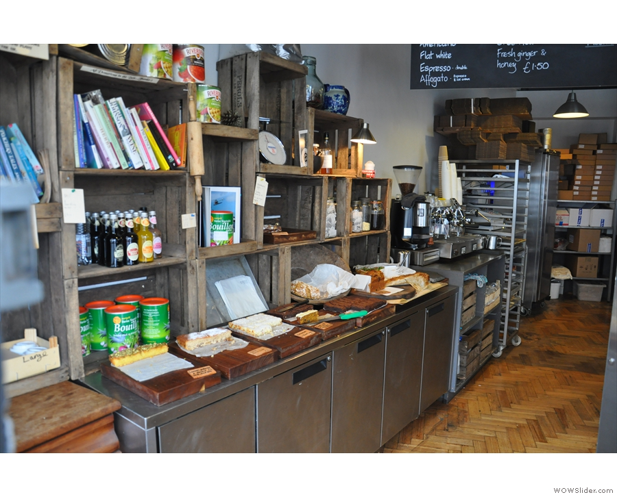 ... whereas before it was just open, with cake and coffee-machine laid out on the left.