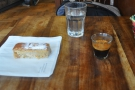 ... while on my first visit in October 2012, I had an espresso & a slice of Devon apple cake.