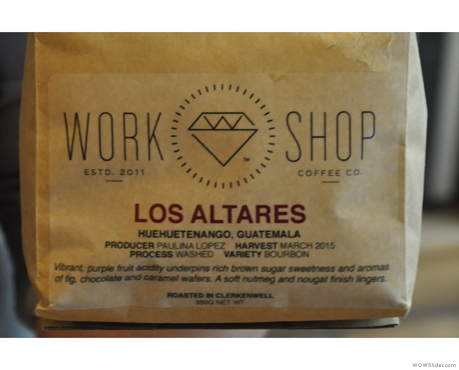 The filter offering was also a Guatemalan, this time from Workshop.